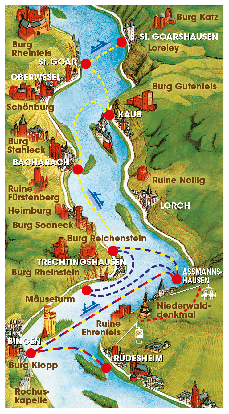 Bingen Germany Map.Day Cruise From Koblenz To Mainz Rick Steves Travel Forum