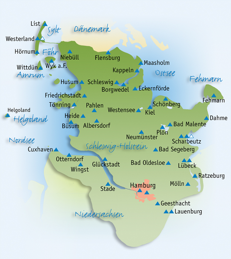 Karte Ostsee Schleswig Holstein.Jugendherberge Schleswig Holstein Karte Kleve Landkarte